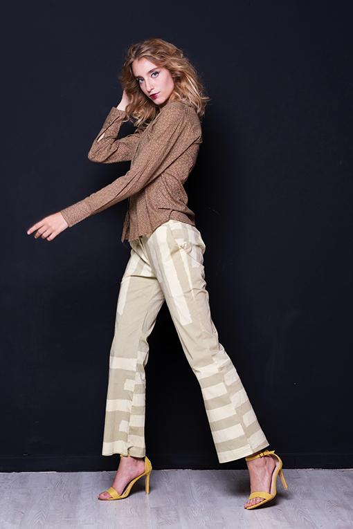 Maglia Cotone Y 01 Pantalone Cotone D 741 C Cardigan Viscosa F 115