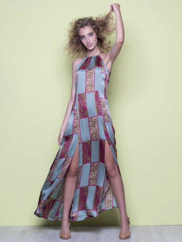 Jopo long split dress