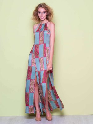 Jopo long split dress